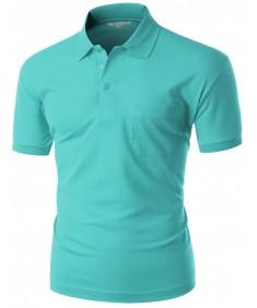 Men's Pique 180-200 Tc Polo Dri Fit Collar Short Sleeve T-Shirt