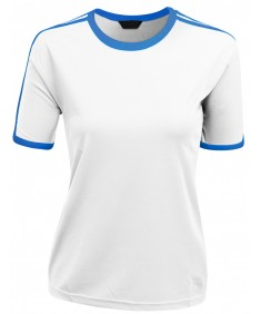Women's Coolmax Shoulder Folcal Point 2 Tone Round Neck T Shirt