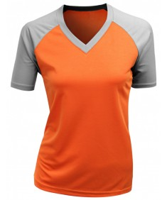 Women's V-Neck Functional Coolmax Short Sleeve T Shirt