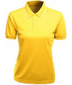 Women's Functional Coolmax Collar Short Sleeve T-Shirt
