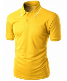 Men's Functional Coolmax Collar Short Sleeve Polo T-Shirt