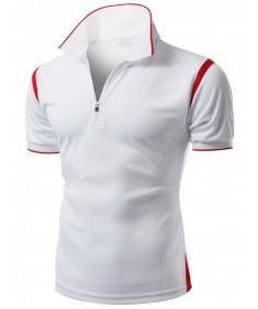 Men's Coolmax Collar 2 Tone Sporty Feel Functional Leisure Polo Tshirt
