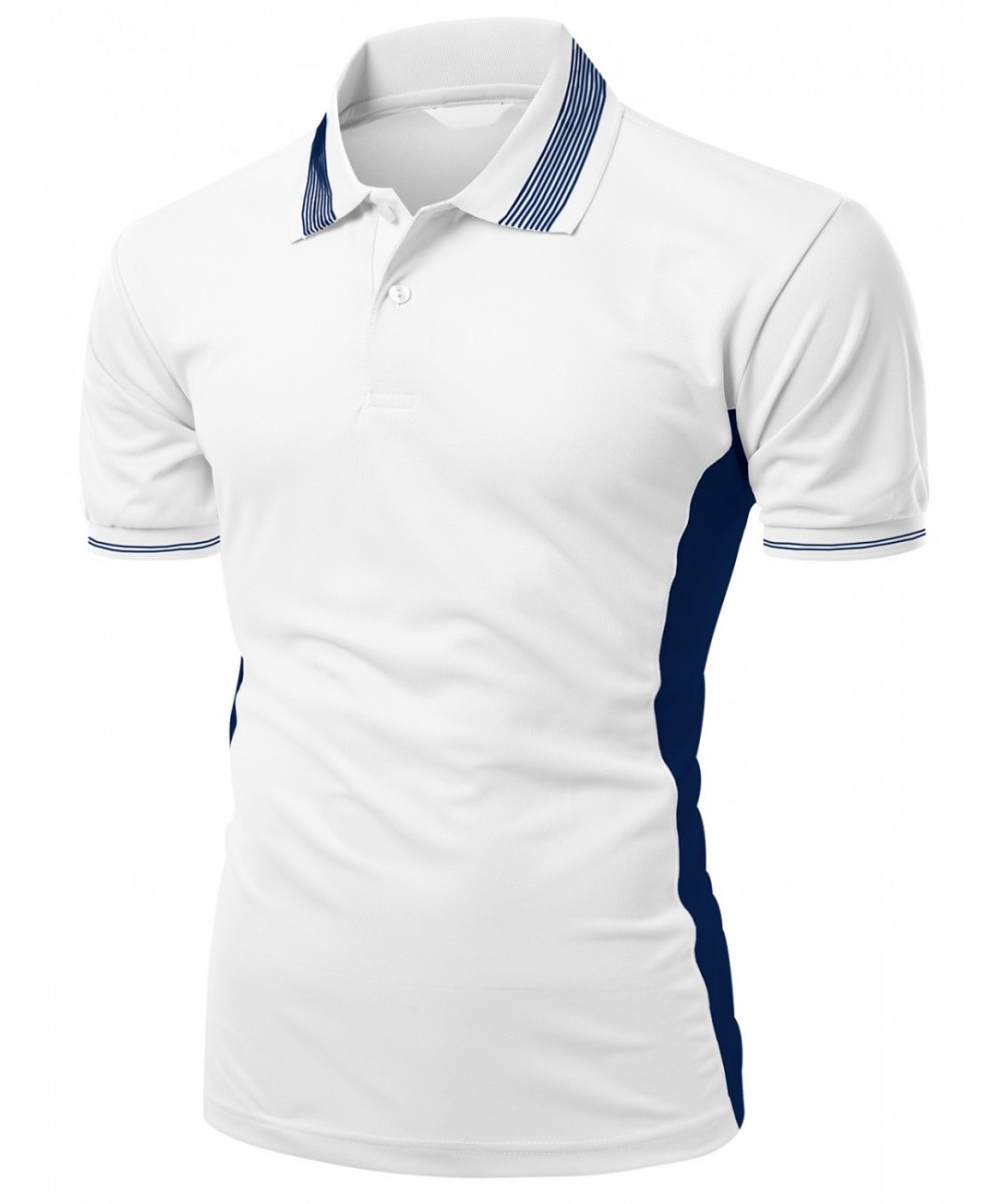 Men\u0027s Coolmax Fabric Sporty Feel Polo T-Shirt With Collar Design