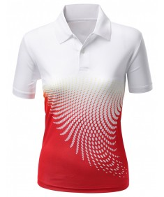 Women's Cool Max Fabric Sporty Design Printed Polo T-Shirt