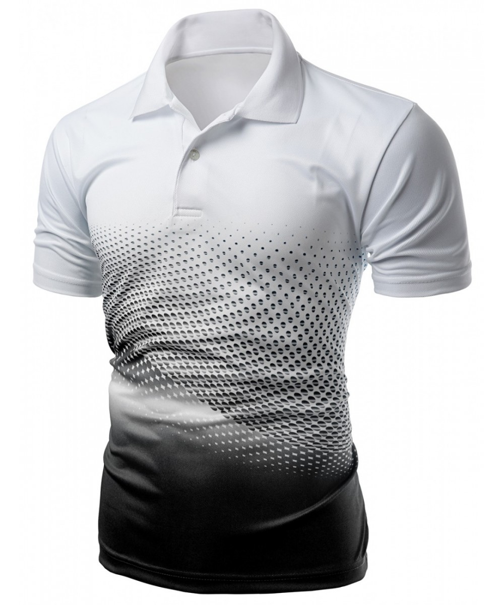 Cool Max Fabric Sporty Design Printed Polo T-Shirt ...