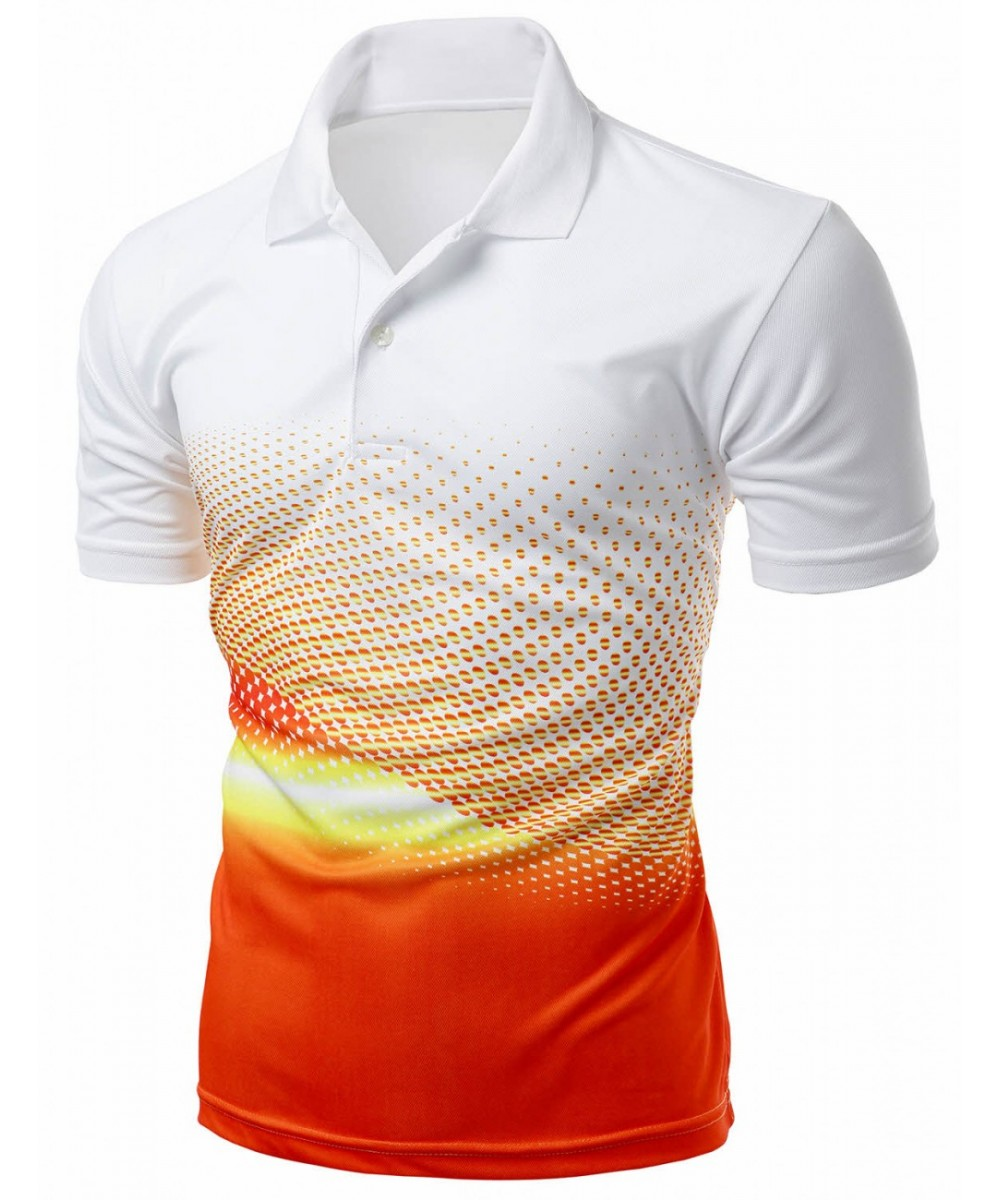 Cool Max Fabric Sporty Design Printed Polo T Shirt