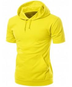 Men's High Quality Cotton Zip Up Hoodie T-Shirt