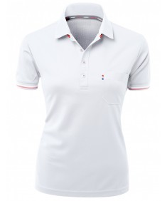 Women's Casual Collar Short Sleeve Functional Active Wear T-Shirt