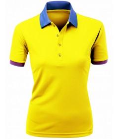 Women's Functional High Quality Cotton Collar Short Sleeve T-Shirt
