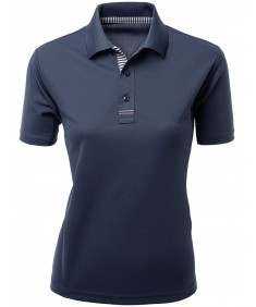 Women's Luxurious 2 Tone Basic Casual Short Sleeve Collar T-Shirt