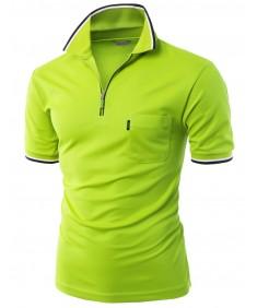 Men's Front Zipper Collar T-Shirt
