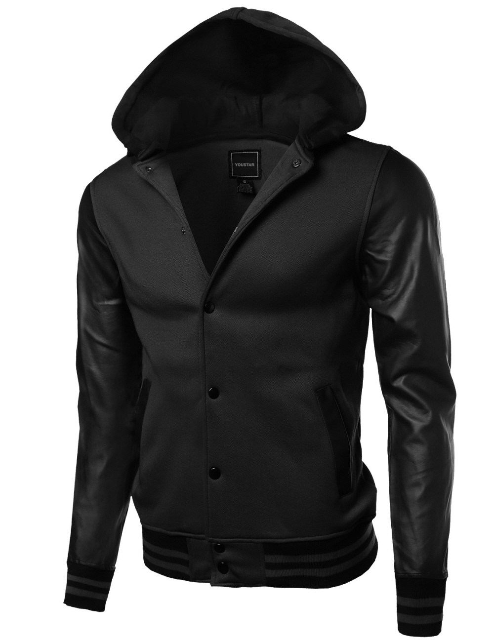 Colece Mens Casual Slim Fit Hoodie Zip-Up Long Sleeve Active Jersey Jackets