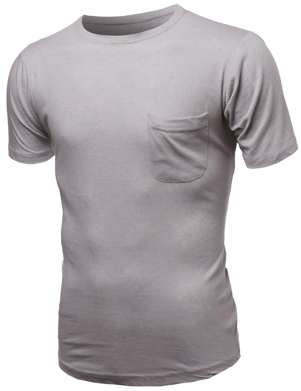 Domple Mens Curve Hem Casual Long Sleeve Round Neck T-Shirts Tops