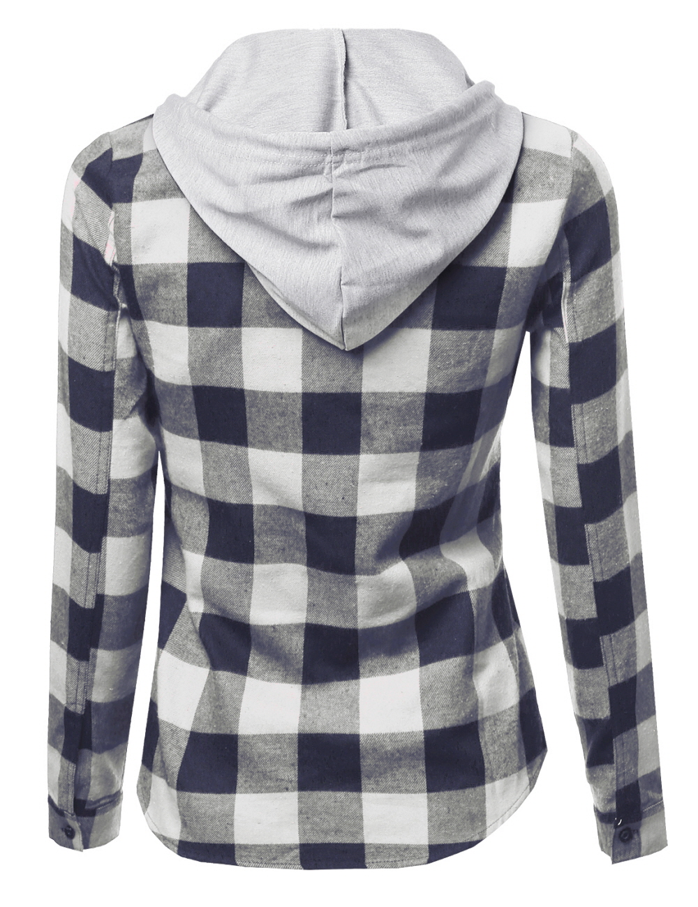 Fashionoutfit women 39 s casual soft plaid check detachable for Ladies soft flannel shirts